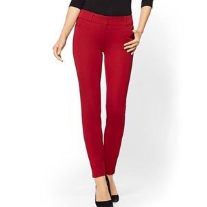 New York and Company red stretch pants womens 14